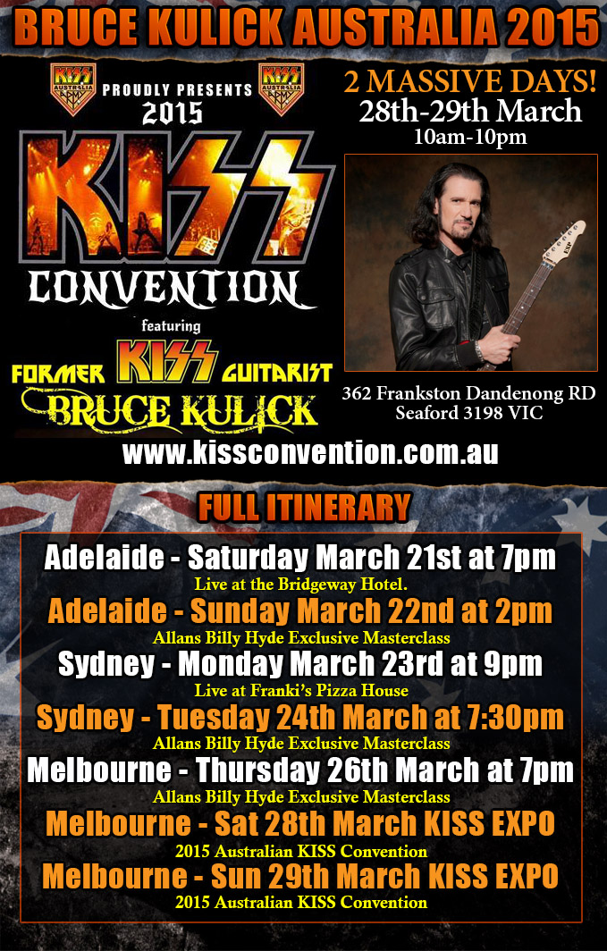 KISS Expo with Bruce Kulick 2015